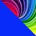 Синий с разноцветным