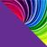 Фиолетовый с разноцветным