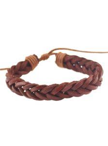 Мужской браслет кожа плетение