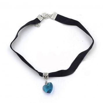 Черный с голубым камнем