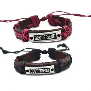 Кожаные парные браслеты - Лучшие друзья