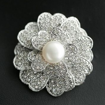 Брошь - Металлический цветок