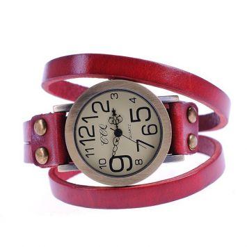 Часы-браслет - Яркая кожа