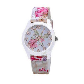 Белый с розовым
