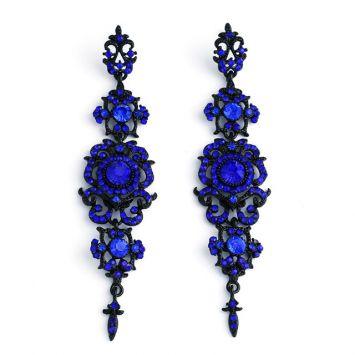 Черный с синим камнем
