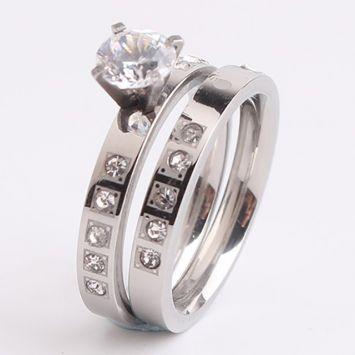 Двойное кольцо - Камень в огранке