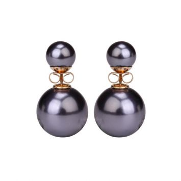 Двойные серьги - Miss Dior