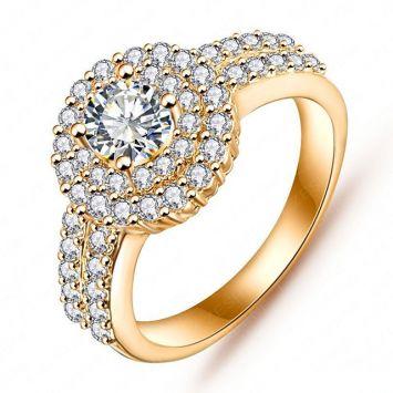 Золотой с белым камнем