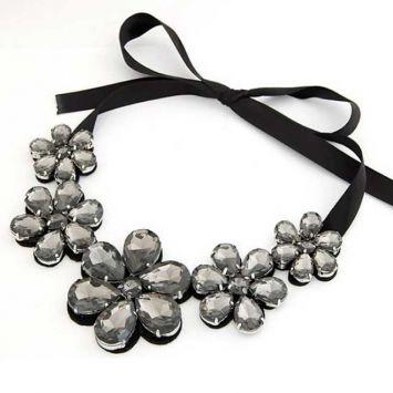 Черный с серым камнем
