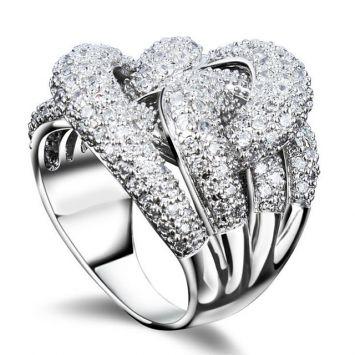 Массивное кольцо - Сверкающее