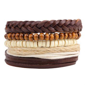 Многоуровневый браслет - Плетеные