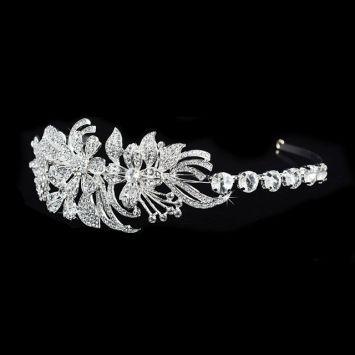 Ободок для невесты - С цветами