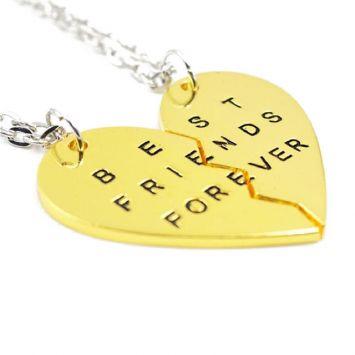 Парные кулоны для друзей - Best Friends Forever