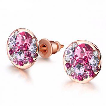 Розовое золото с розовым камнем