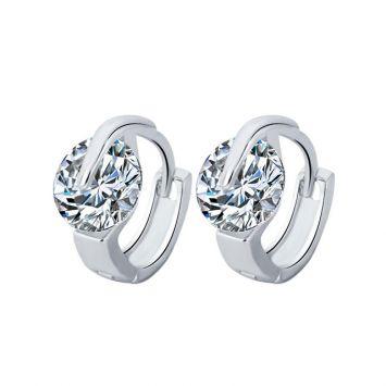 Серьги-кольца - Округлый кристалл