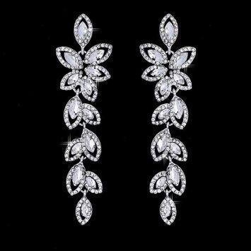 Серьги - Кристальный лепесток