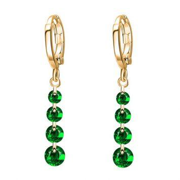 Золотой с зеленым камнем