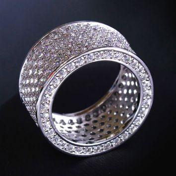 Широкое кольцо - С фианитами