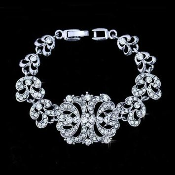 Свадебный браслет - Букет кристаллов