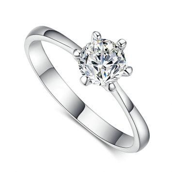 Женское кольцо - Алмаз в огранке