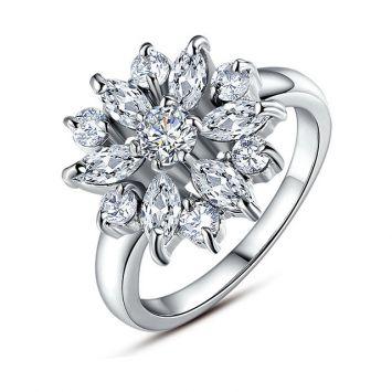 Женское кольцо - Алмазный цветок