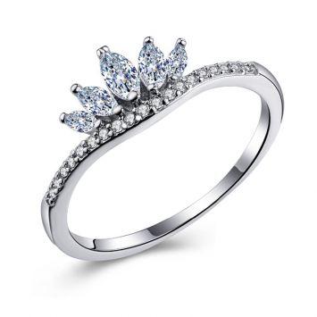 Женское кольцо - Кристальная корона