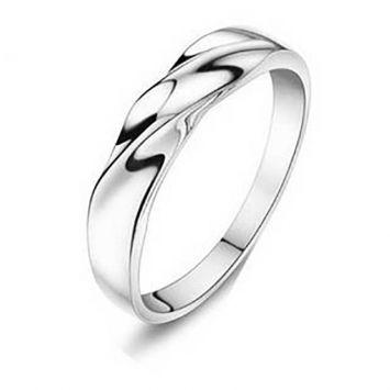 Женское кольцо - Металлический изгиб