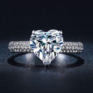 Женское кольцо - С сердцем