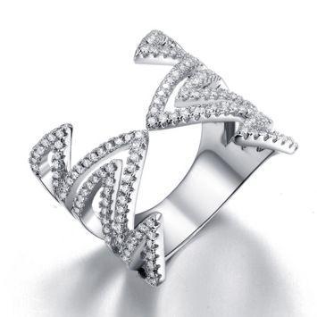 Женское кольцо - Защип