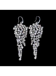 Серьги - Россыпь кристаллов