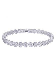 Браслет для невесты - Кристальная россыпь
