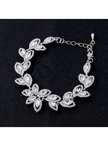 Браслет для невесты - Кристальный лепесток