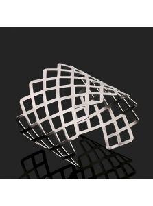 Браслет-манжета - Серебристый орнамент