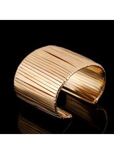 Браслет-манжета - Золотые нити
