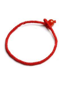 Браслет-оберег - Красный шар