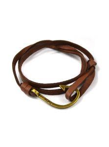 Кожаный браслет - С крючком