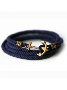 Браслет в морском стиле - Синий канат