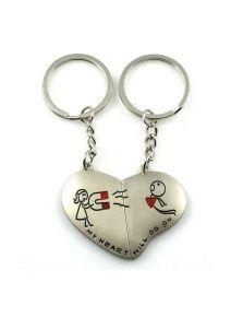 Брелки для влюбленных - Магнитное сердце