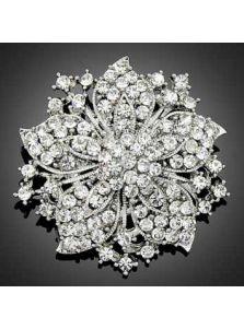 Брошка - Цветок из кристаллов