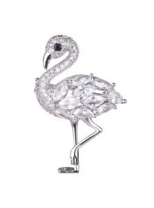 Брошь - Сияние фламинго