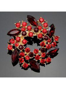 Брошь - Венок кристаллов
