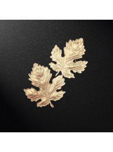 Броши на воротник - Кленовые листья