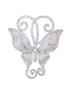 Брошка - Ажурная бабочка