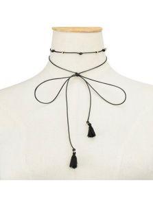 Чокер - Текстильные кисточки