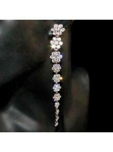 Длинные серьги - Кристальный цветок