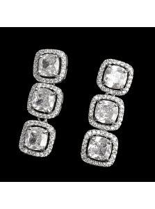 Длинные серьги - Квадратные камни