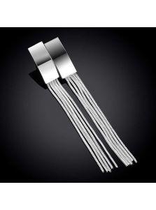 Длинные серьги - Металлическая кисть
