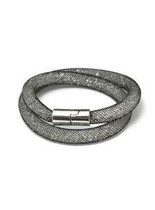 Двойной браслет - Звездная пыль (черно-белая)