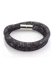 Двойной браслет - Звездная пыль (черно-серая)
