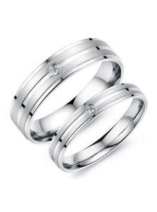 Двойные кольца - С фианитом